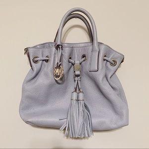 Michael Kors Light Blue Tassel Drawstring Bag